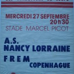Affiche saison 1978 1979 Coupe d'Europe Nancy Frem Copenhague