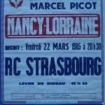 Affiche saison 1984 1985 Nancy Strasbourg RC 22 03 1985