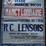 Affiche saison 1985 1986 ASNL RC Lens 13 09 1985