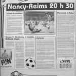 Programme Nancy-Reims - Saison 1987-1988 - D2 (9e j., 02/09/1987) - Supplément à L'Est républicain du 02/09/1987