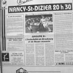 Programme Nancy-St-Dizier - Saison 1987-1988 - D2 (10e j., 12/09/1987) - Supplément à L'Est républicain du 12/09/1987