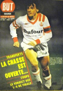 But, n° 1318 (19/05/1981). Olivier Rouyer, capitaine de l'ASNL, est en couverture.