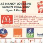 Carte d'abonnement - Saison 2006-2007