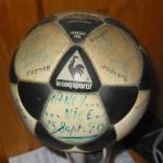 Ballon dédicacé Nancy-Nice 1980
