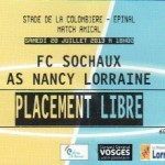 Billet Sochaux-Nancy - Saison 2013-2014 - Match amical (20/07/2013)