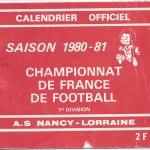 Calendrier 1980 1981