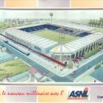 Carte postale stade Picot