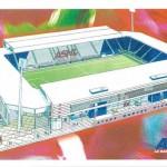Carte postal stade Picot - 1999