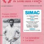 Chardon Rouge n°199 saison 83/84