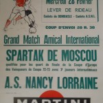 Affiche Nancy-Spartak Moscou - Saison 1972-1973 - Match amical (28/02/1973) [collection privée Michel Vuillemin]