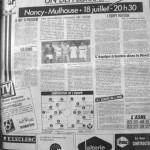 Programme Nancy-Mulhouse - Saison 1987-1988 - D2 (1re j., 18/07/1987) - Supplément à L'Est républicain du 18/07/1987