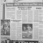 Programme Nancy-La Roche-sur-Yon - Saison 1987-1988 - D2 (14e j., 16/10/1987) - Supplément à L'Est républicain du 16/10/1987