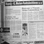 Programme Nancy-Melun-Fontainebleau - Saison 1987-1988 - D2 (16e j., 30/10/1987) - Supplément à L'Est républicain du 30/10/1987