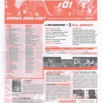 Feuille de Match n°01 06-07