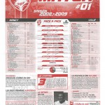 Feuille de Match n°01 08-09