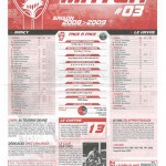 Feuille de Match n°03 08-09