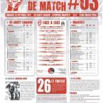 Programme Nancy-Marseille (Feuille de match #03) - Saison 2012-2013 - L1 (5e j., 16/09/2012)