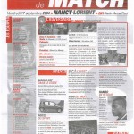 Feuille de Match n°04 04-05