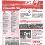 Feuille de Match n°04 07-08