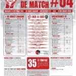 Programme Nancy-Valenciennes (Feuille de match #04) - Saison 2011-2012 - L1 (7e j., 21/09/2011)