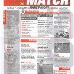 Feuille de Match n°05 04-05