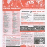 Feuille de Match n°05 06-07