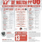 Programme Nancy-Paris SG (Feuille de match #06) - Saison 2012-2013 - L1 (10e j., 27/10/2012)