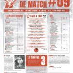 Programme Nancy-Ajaccio (Feuille de match #09) - Saison 2011-2012 - L1 (17e j., 10/12/2011)