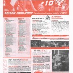 Feuille de Match n°10 06-07