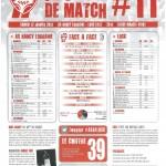 Programme Nancy-Lille (Feuille de match #11) - Saison 2012-2013 - L1 (20e j., 12/01/2013)