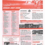 Feuille de Match n°12 07-08