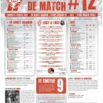 Programme Nancy-Rennes (Feuille de match #12) - Saison 2011-2012 - L1 (22e j., 04/02/2012)