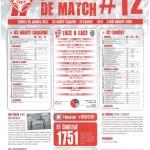 Programme Nancy-Lorient (Feuille de match #12) - Saison 2012-2013 - L1 (22e j., 26/01/2013)