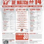 Programme Nancy-Lyon (Feuille de match #14) - Saison 2011-2012 - L1 (26e j., 03/03/2012)
