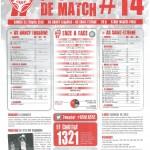 Programme Nancy-St-Étienne (Feuille de match #14) - Saison 2012-2013 - L1 (26e j., 23/02/2013)