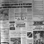 Programme Nancy-Lorient - Saison 1969-1970 - D2 (1re j., 13/08/1969) - Supplément à L'Est républicain du 13/08/1969