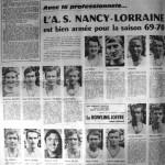 Programme Nancy-Dunkerque - Saison 1969-1970 - D2 (3e j., 27/08/1969) - Supplément à L'Est républicain du 26/08/1969