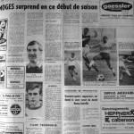 Programme Nancy-Limoges - Saison 1968-1969 - D2 (10e j., 12/10/1968) - Supplément à L'Est républicain du 11/10/1968