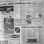 Programme Nancy-Reims - Saison 1969-1970 - Challenge de l'Espérance (1er tour, groupe B, match #1, 06/09/1969) - Supplément à L'Est républicain du 06/09/1969