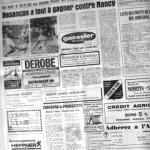Programme Nancy-Besançon - Saison 1969-1970 - Challenge de l'Espérance (1er tour, groupe B, match #2, 12/09/1969) - Supplément à L'Est républicain du 12/09/1969