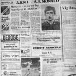 Programme Nancy-Monaco - Saison 1969-1970 - D2 (5e j., 19/09/1969) - Supplément à L'Est républicain du 18/09/1969