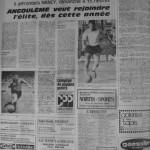 Programme Nancy-Angoulême - Saison 1968-1969 - D2 (20e j., 22/12/1968) - Supplément à L'Est républicain du 19/12/1968