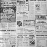 Programme Nancy-Paris-Neuilly - Saison 1969-1970 - Challenge de l'Espérance (1er tour, groupe B, match #4, 01/10/1969) - Supplément à L'Est républicain du 01/10/1969