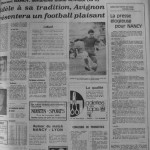 Programme Nancy-Avignon - Saison 1968-1969 - D2 (22e j., 19/01/1969) - Supplément à L'Est républicain du 16/01/1969