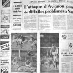 Programme Nancy-Avignon - Saison 1969-1970 - D2 (9e j., 25/10/1969) - Supplément à L'Est républicain du 23/10/1969