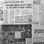 Programme Nancy-Boulogne - Saison 1969-1970 - D2 (11e j., 09/11/1969) - Supplément à L'Est républicain du 07/11/1969