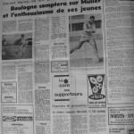 Programme Nancy-Boulogne - Saison 1968-1969 - D2 (31e j., 15/04/1969) - Supplément à L'Est républicain du 15/04/1969
