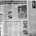Programme Nancy-Gazélec Ajaccio - Saison 1968-1969 - D2 (37e j., 14/05/1969) - Supplément à L'Est républicain du 14/05/1969