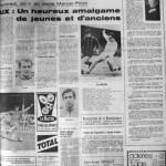 Programme Nancy-Aix - Saison 1968-1969 - D2 (39e j., 23/05/1969) - Supplément à L'Est républicain du 22/05/1969