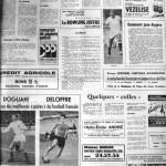Programme Nancy-Angers - Saison 1968-1969 - D2 (29e j., 27/05/1969, match en retard) - Supplément à L'Est républicain du 24/05/1969